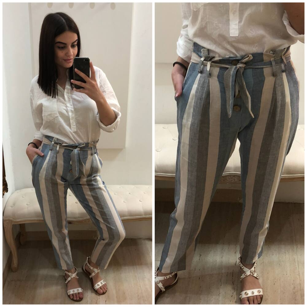 Pásikavé nohavice