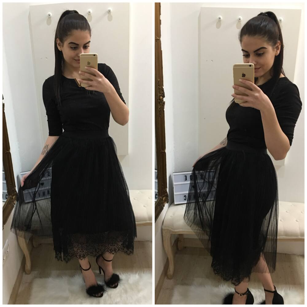 Miss Italy sukňa s čipkou